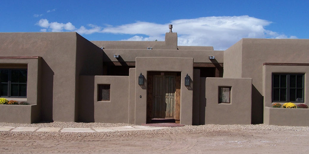 Home construction and consulting services for Pueblo style home plans