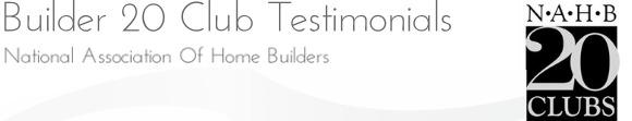 Builder 20 Testimonials