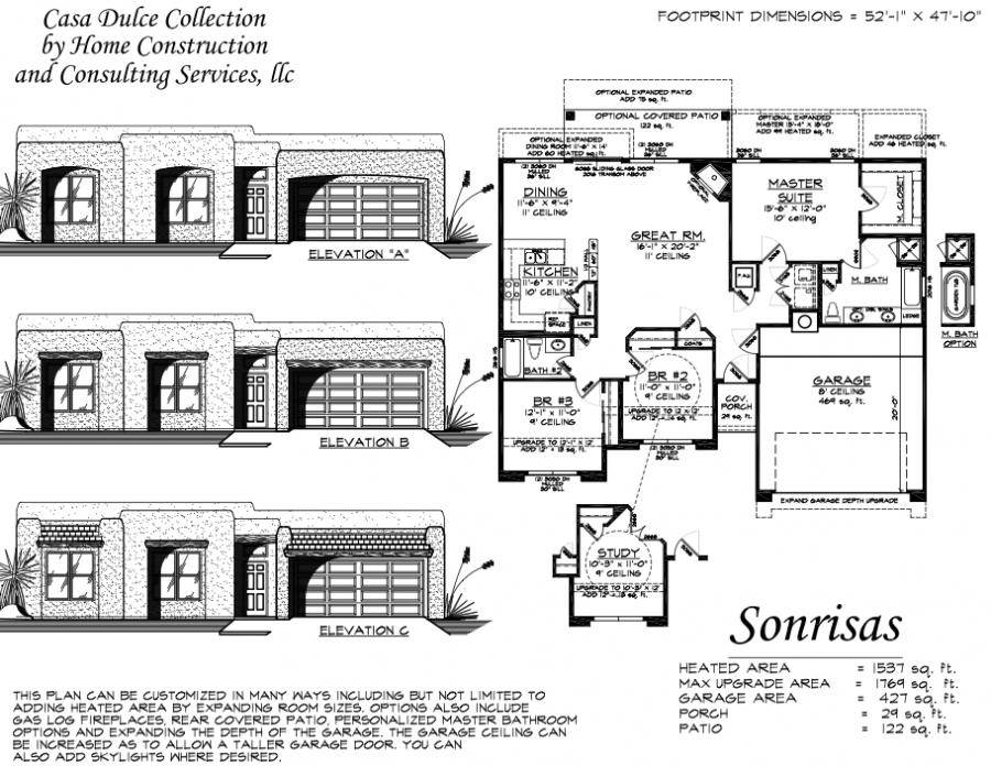 Sonrisis Custom Home Floor Plan