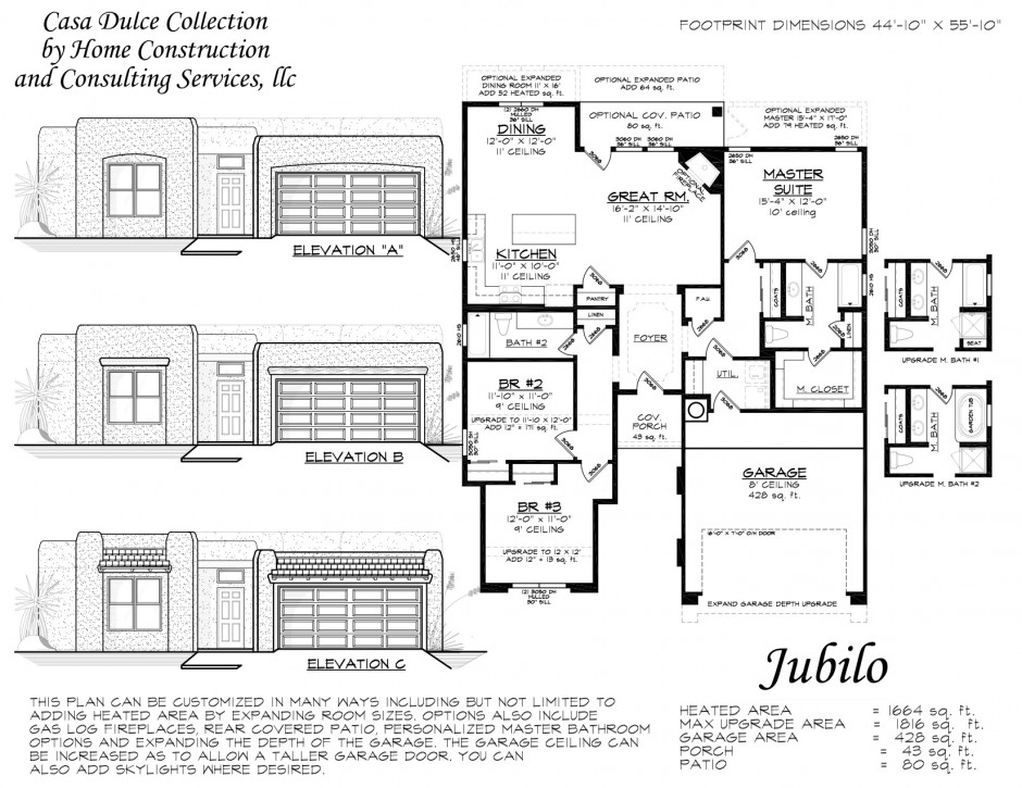 Jubilo custom home floor plan